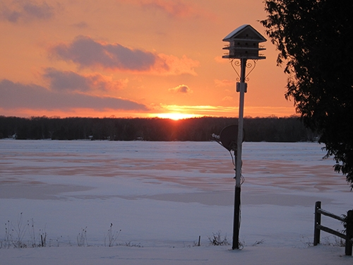 Winter sunset from Diane Gissell.