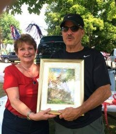 Heads or Tails Winner, with Mary Hedeen, picnic co-organizer